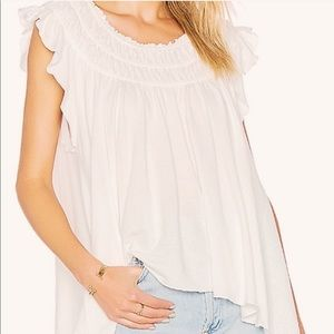 Free People coconut gathered top NWT